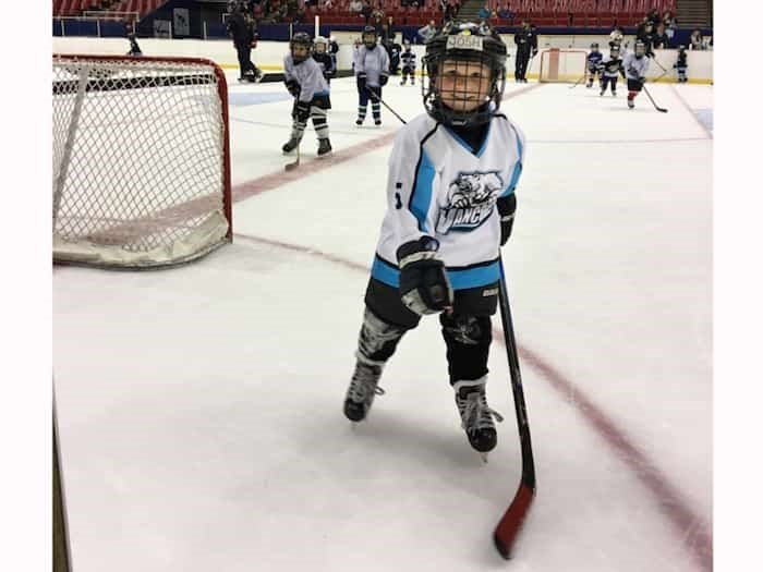 Grant Lawrence's son Josh hits the ice twice a week and, like most people, prefers games to practices. Photo Grant Lawrence