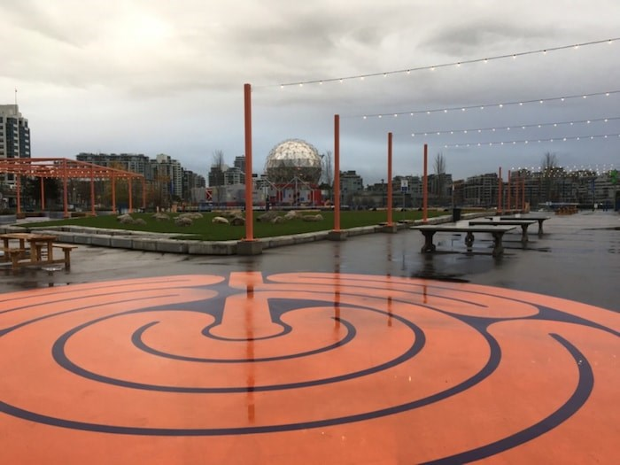 Concord Pacific footed the bill for a temporary park along False Creek, which opened at the end of Sept. Photo Grant Lawrence