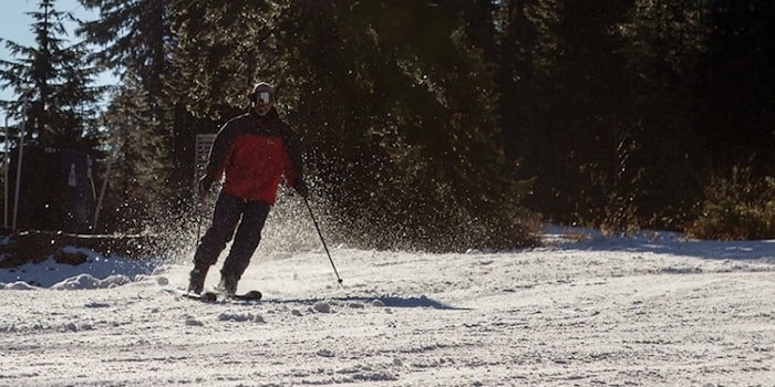A skier makes some fresh tracks on Cypress during opening day last season. file photo Kevin Hill, North Shore News