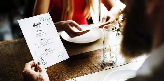 Menu at restaurant/Shutterstock