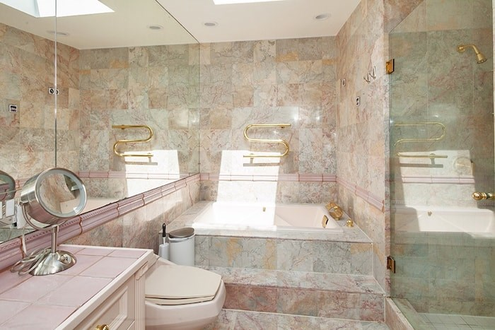 The most retro room in the house has to be this bathroom, which is so bad it's good (almost). Image supplied