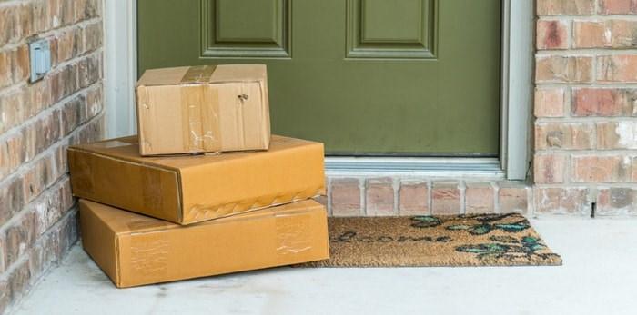 Packages on doorstep/Shutterstock