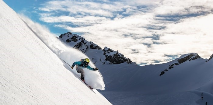 Guy Fattal drops in on Blackcomb for a Christmas Eve rip.(Mitch Winton/Whistler Blackcomb)