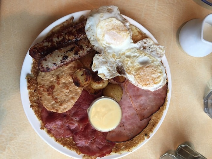 Breakfast platter with pannekoeken (Lindsay William-Ross/Vancouver Is Awesome)