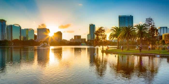 Sunset at Orlando / Shutterstock