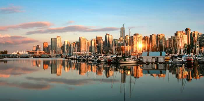 Worth checking out, Ben Schwartz: The Vancouver skyline at sunset, as seen from Stanley Park/Shutterstock