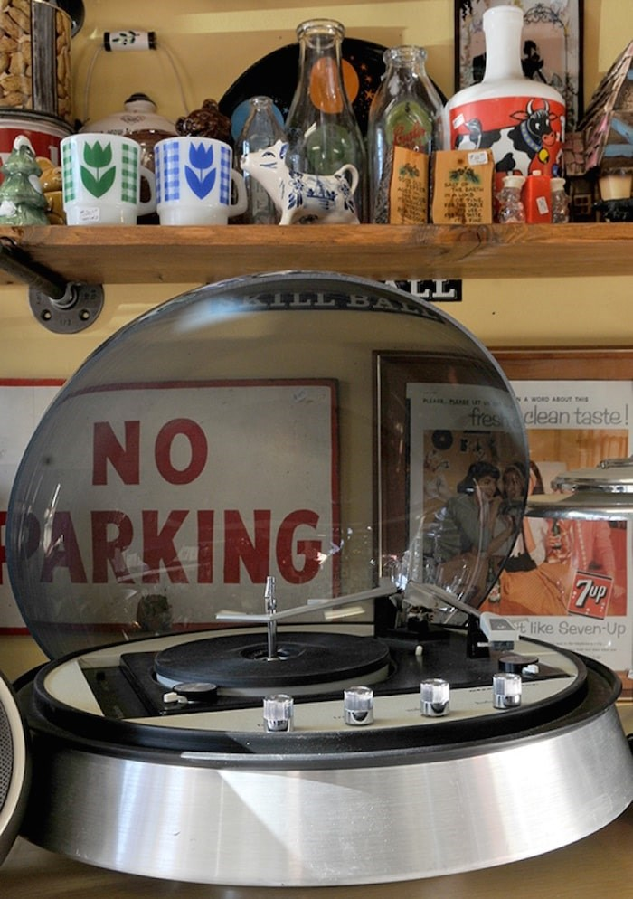 The future doesn't seem to have lived up to the aesthetic promised by this vintage record turntable. Photo by Mario Bartel/Tri-City News
