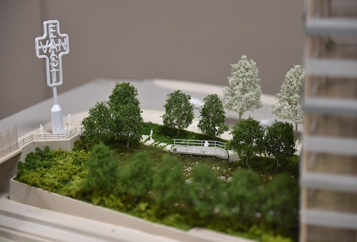 Model of the property site. Photo by Dan Toulgoet.