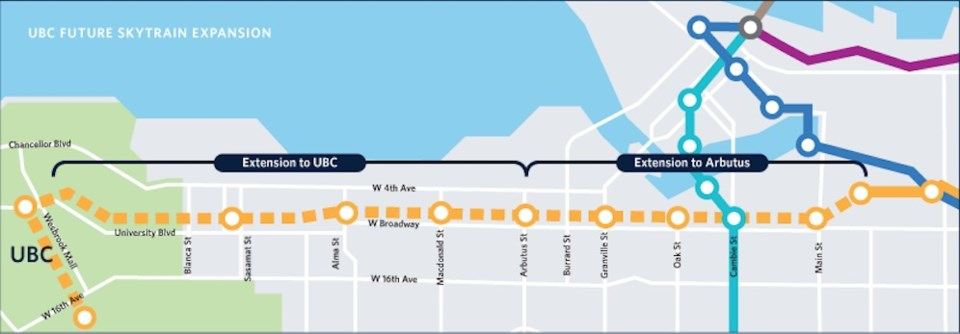 Proposed extension of the Millennium Line to UBC (UBC Rapid Transit)