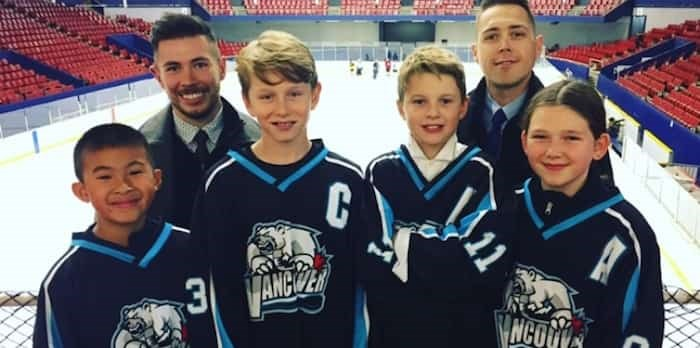VMHA coach Stephen Gillis (right) hasn't missed a practice or a game yet, in an effort to not allow his disease to get in the way of what he loves doing most — coaching his team.