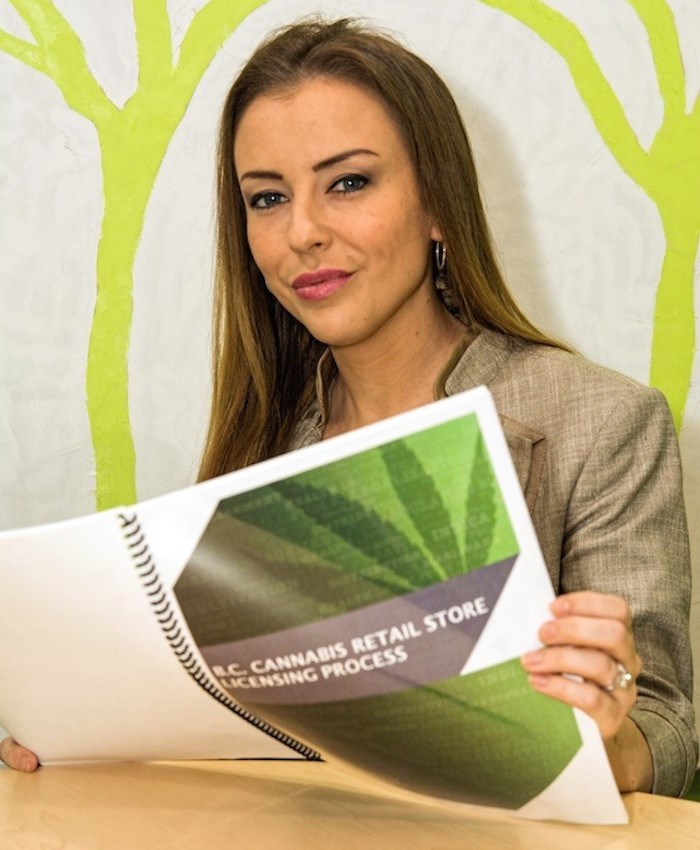 Tiffany & Company Law principal Tiffany Walsh reads up on emerging cannabis law. Photo by Chung Chow