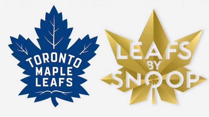 Confusion between brands in a marketplace can take place if consumers in a hurry believe that the two marks originate from the same source. Images: Toronto Maple Leafs / Leafs by Snoop