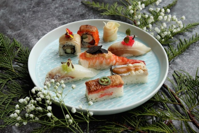 Aburi sushi selection (Photo courtesy Miku)