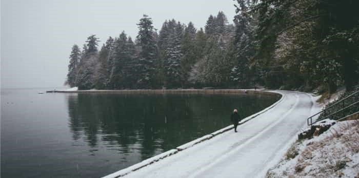 Stanley Park in Vancouver with snow / shutterstock