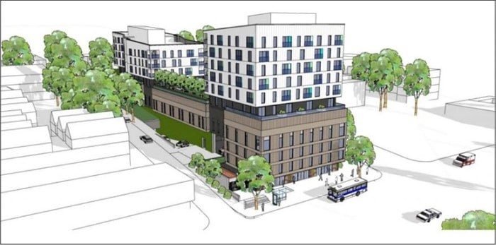 A public hearing is slated for Feb. 20 on a proposed detox and social housing rental complex at Clark and East First