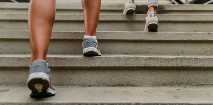 Running up stairs/Shutterstock