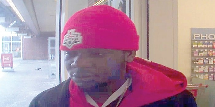A surveillance image released by North Vancouver RCMP shows the suspect in a $1,600 perfume theft. photo supplied