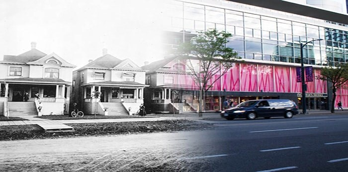 Robson Street Houses. - On This Spot / City of Vancouver Archives