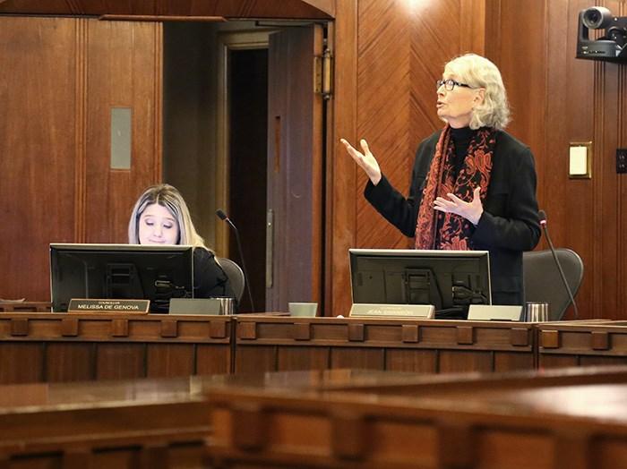 Councillors Melissa De Genova and Jean Swanson in Council chambers January, 2019. Photo Bob Kronbauer