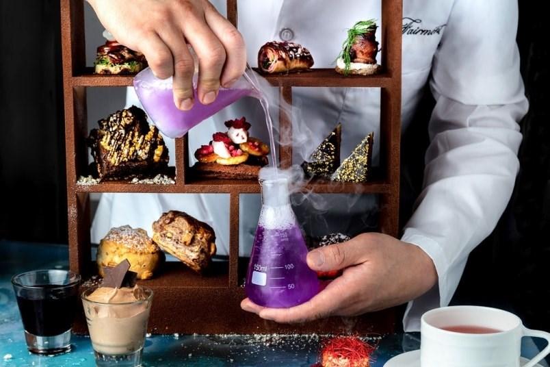 Enjoy sweet treats at Notch8 Restaurant & Bar at the Chocolate Laboratory Dessert Lounge. Photo courtesy Fairmont Hotels
