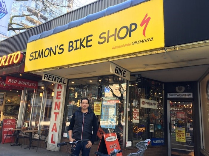 Simon Coutts has owned and operated Simon's Bike Shop at 608 Robson St. since 1986. Photo by Grant Lawrence