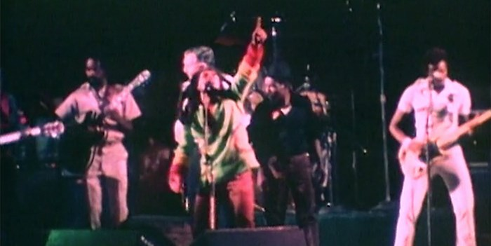 Bob Marley performing live in the film