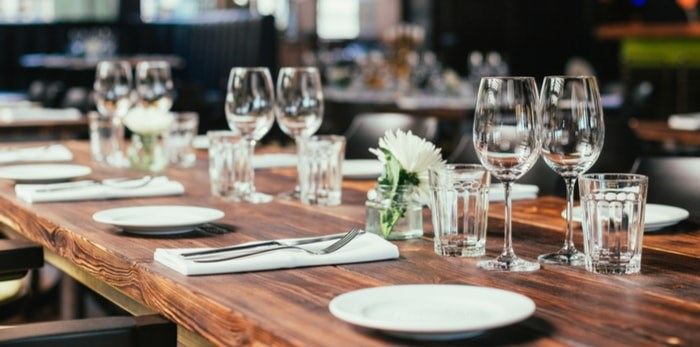 Dinner party table/Shutterstock