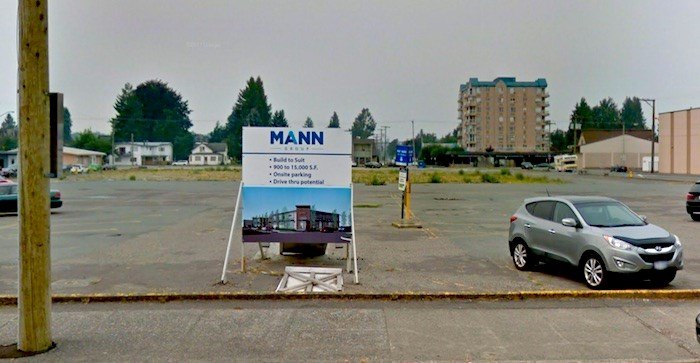 This lot on Main Street was home to the Safeway in Chilliwack from 1961 to 2206. Google Street View.