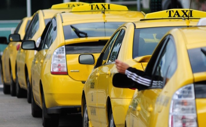 Row of taxi cabs. File photo, North Shore News.