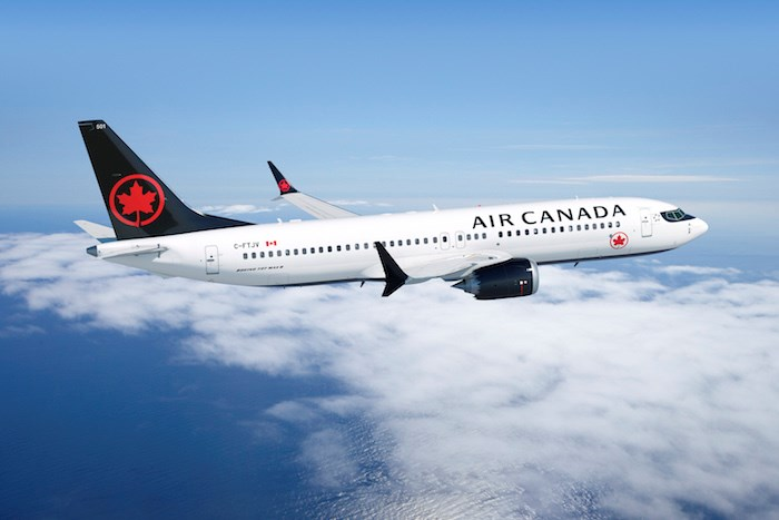 Air Canada flies Boeing 737 Max 8 (Photo via Air Canada)