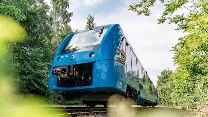 The Coradia iLint is the world's first passenger train powered by a hydrogen fuel cell. Photo via Alstom