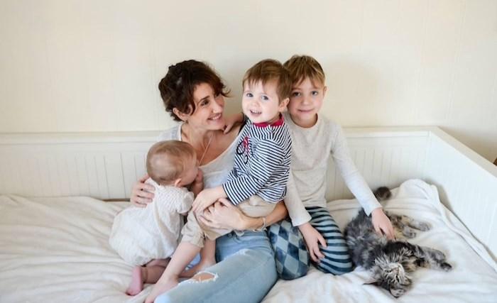 Koel's partner Olympia and children. Photo via GoFundMe.