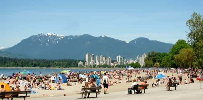 Kitsilano Beach is Vancouver`s most social beach, Vancouver, BC, Canada. May 27, 2017 / Shutterstock
