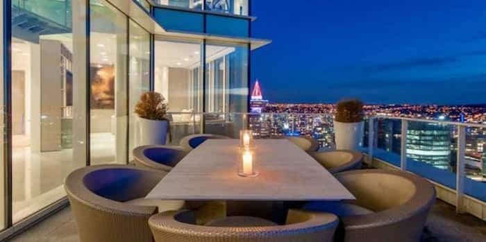 At $29,998,000, this penthouse at the Fairmont Pacific Rim in downtown Vancouver is B.C.'s most expensive condo listing and has been on the market 98 days as of March 20, 2019.