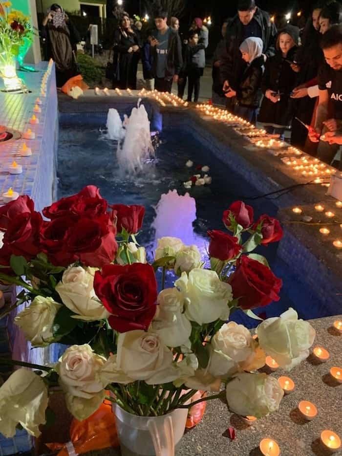 A candlelight vigil closed the evening. Photo: Az-Zahraa