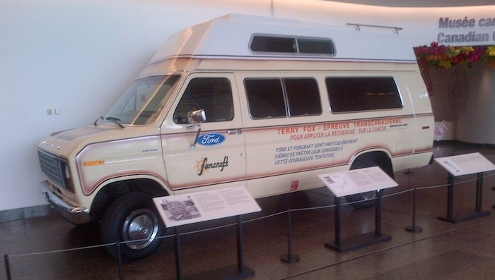 The Van of Hope on display in 2012. Photo courtesy Vancouver International Auto Show
