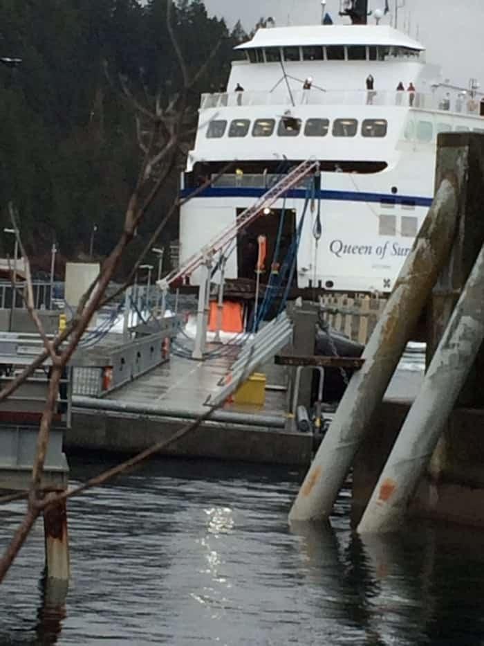 The Queen of Surrey stuck at the Stormaway dock