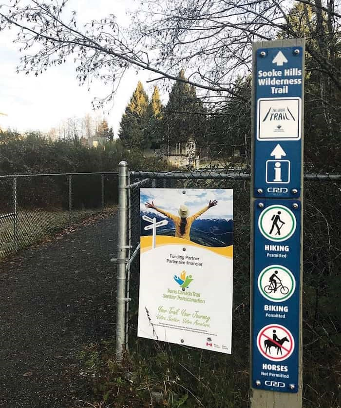 The start of the trail, at the Mount Wells parking lot on Humpback Road in Langford. - Ken Armour