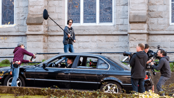 A film crew gets to work in downtown Vancouver | Chung Chow