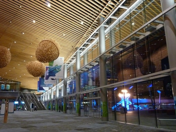 In 2010, the Vancouver Convention Centre was the main media centre for the Olympics. Photo courtesy Vancouver Convention Centre