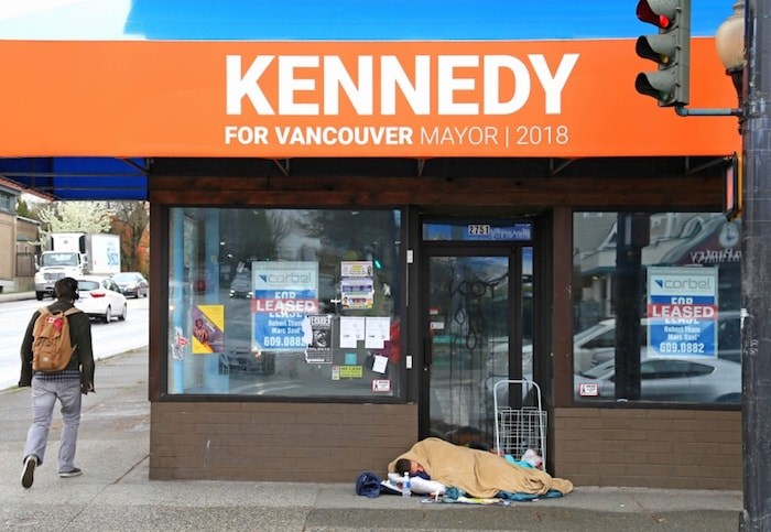 The optics are not good at Mayor Kennedy Stewart's former campaign office. Photo Bob Kronbauer