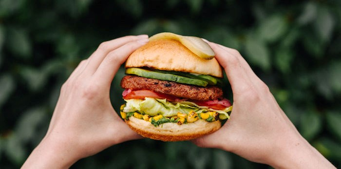 The Avocado Beyond Burger joins the White Spot lineup starting April 15, 2019. Photo courtesy White Spot.