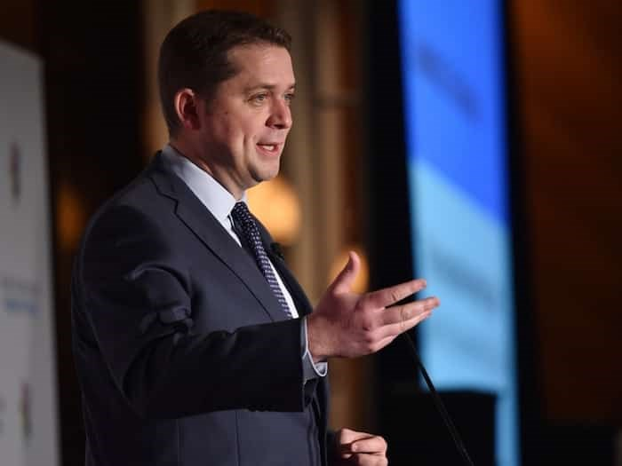 Federal Conservative Party leader Andrew Scheer speaking at a Greater Vancouver Board of Trade event in April 2019. Photo Dan Toulgoet
