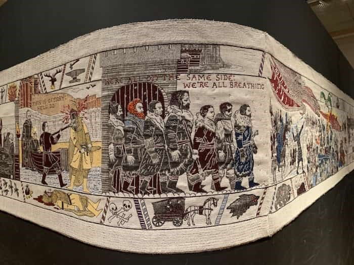 At the Ulster Museum in Belfast, the Game of Thrones Tapestry is on temporary display and is 80-metres long. Photo Jennifer Bain