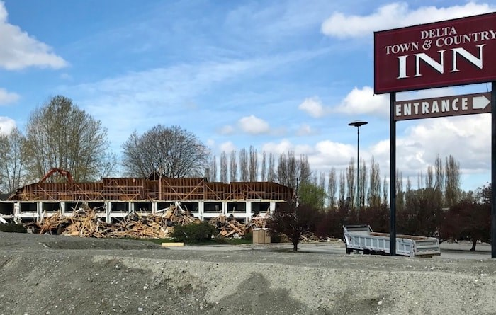 Having played host to countless guests and functions for over 50 years, the Delta Town & Country Inn is being torn down to make way for Gateway's casino/hotel complex. Property owner Ron Toigo is leasing the site to Gateway. Photo by Sandor Gyarmati