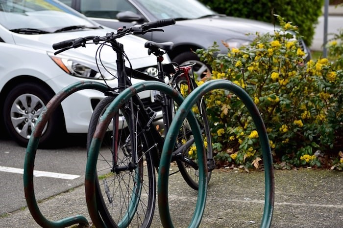 Bikes are generally more likely to be stolen in Richmond's downtown core, according to property crime data. Photo by Megan Devlin
