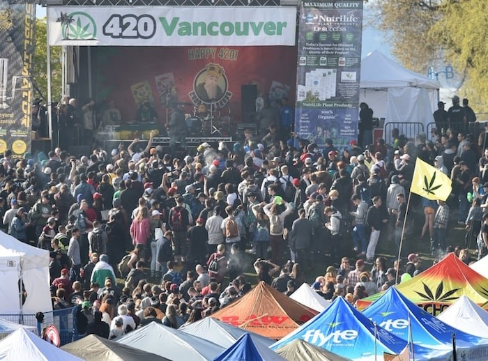 Vancouver police said Wednesday officers will be keeping an eye out for vendors selling to minors during the annual 4/20 event this weekend. Photo Dan Toulgoet