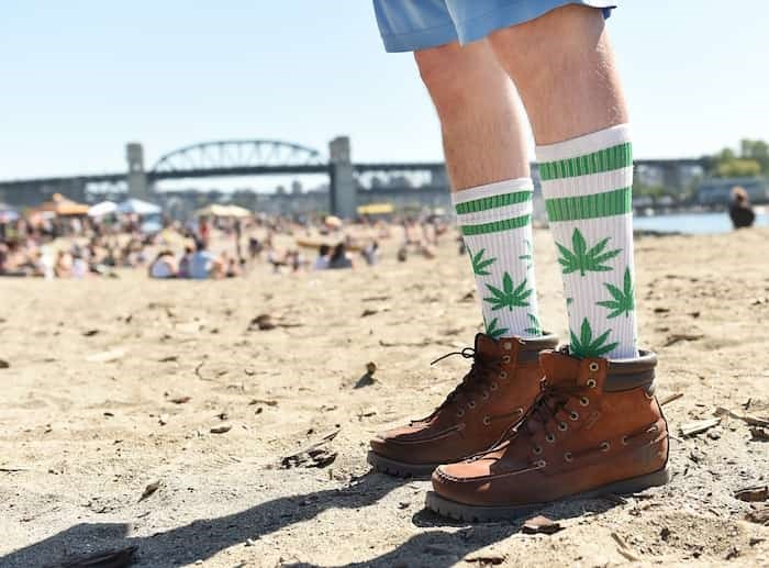 For most of its 25-year history, 4/20 was held downtown at the Vancouver Art Gallery. With crowds increasing every year, it moved to Sunset Beach in 2016. Photo Dan Toulgoet