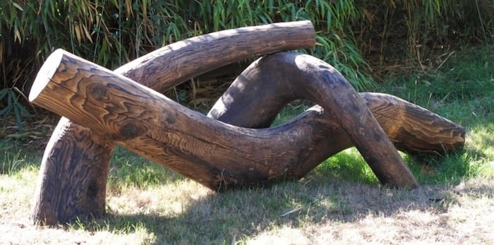 Michael Dennis's original reclining figure sculpture, which had been a fixture at Vancouver's Guelph Park since the early 1990s.  Photo courtesy Michael Dennis