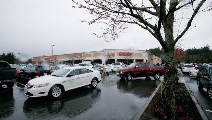 A file photo of the Costco parking lot in Langford, the site of a recent altercation. Photo by Darren Stone/Times Colonist.